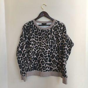 J. Crew Leopard Print Sweatshirt